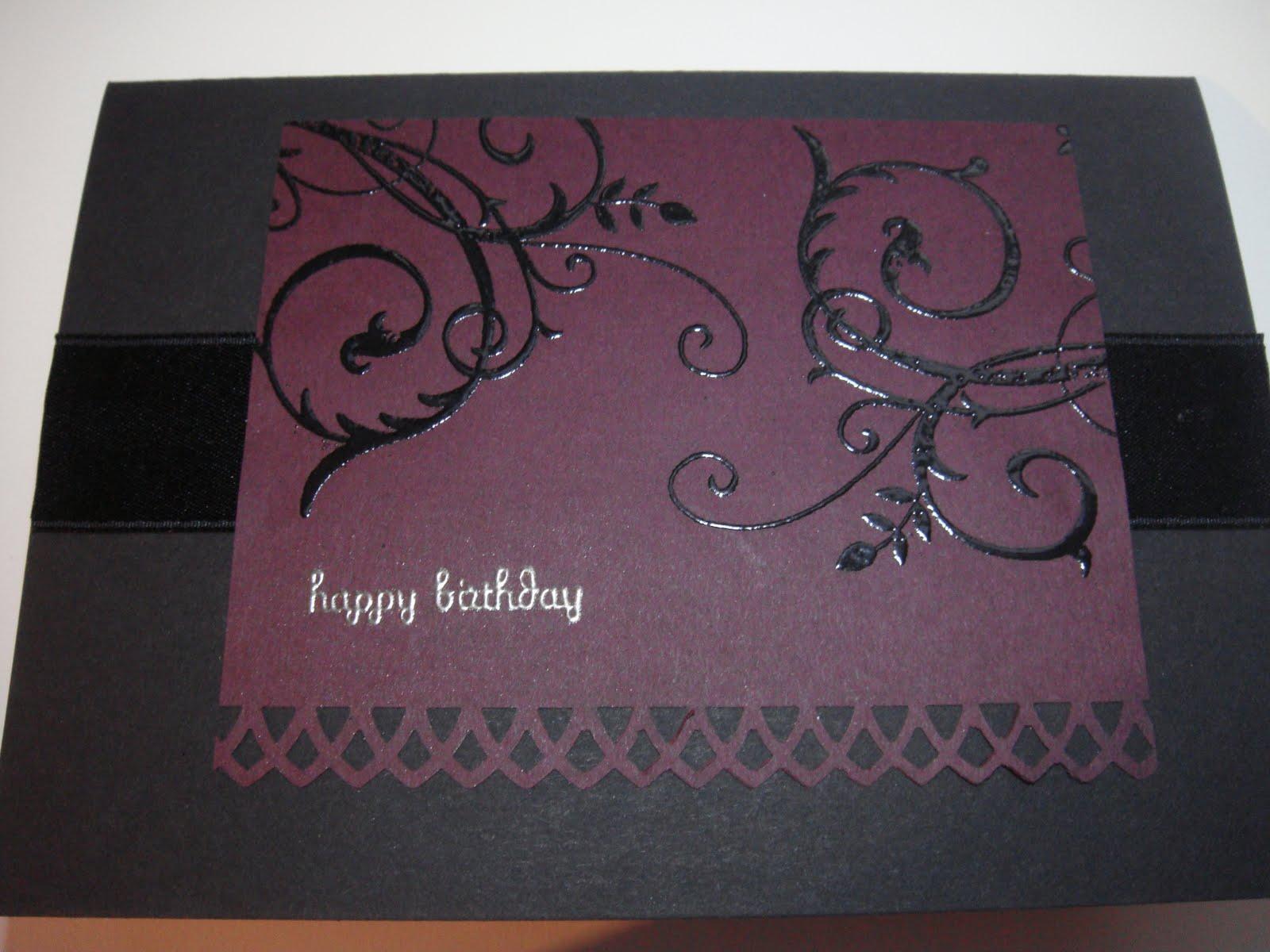 Geburtstagskarte im Gothic Style – Rosa, Pink & alles was glitzert