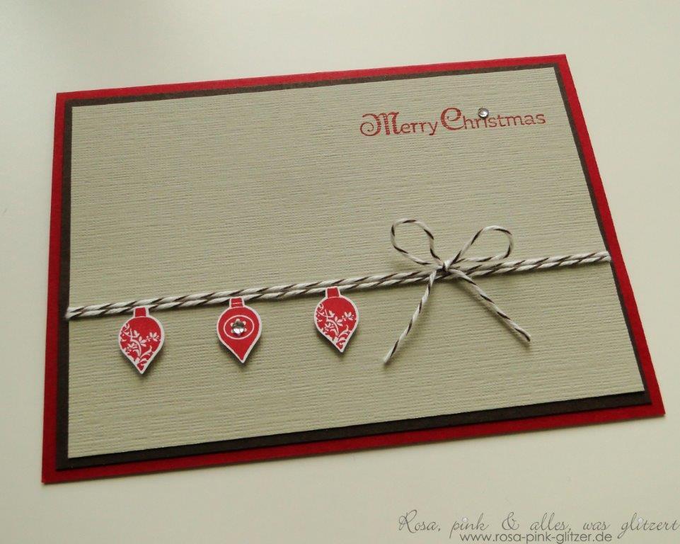 Stampin up Landshut - Weihnachtskarte Merry Minis Waldhimbeere