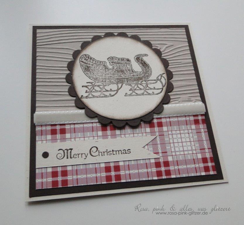 stampin up landshut - weihnachtskarte - open sleigh