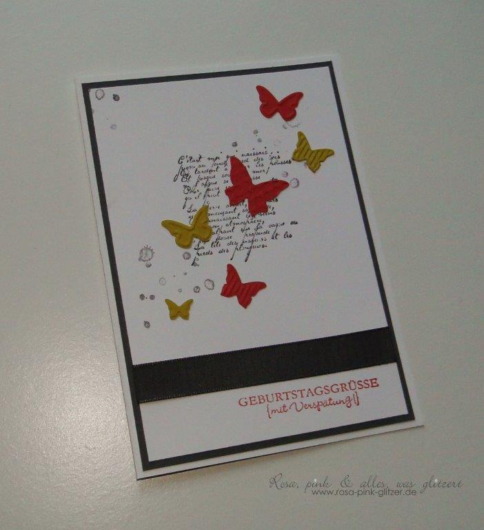Stampin up Landshut - French Foliage - Geburtstagskarte