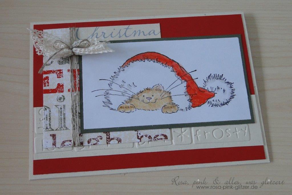stampin up landshut - weihnachtskarte - penny black - merry monday