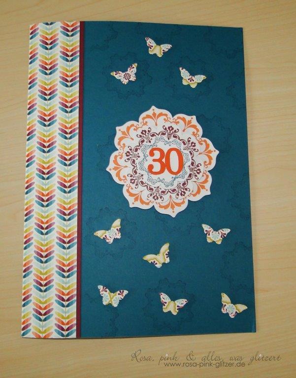 stampin up landshut - geburtstagskarte 30. Geburtstag 1