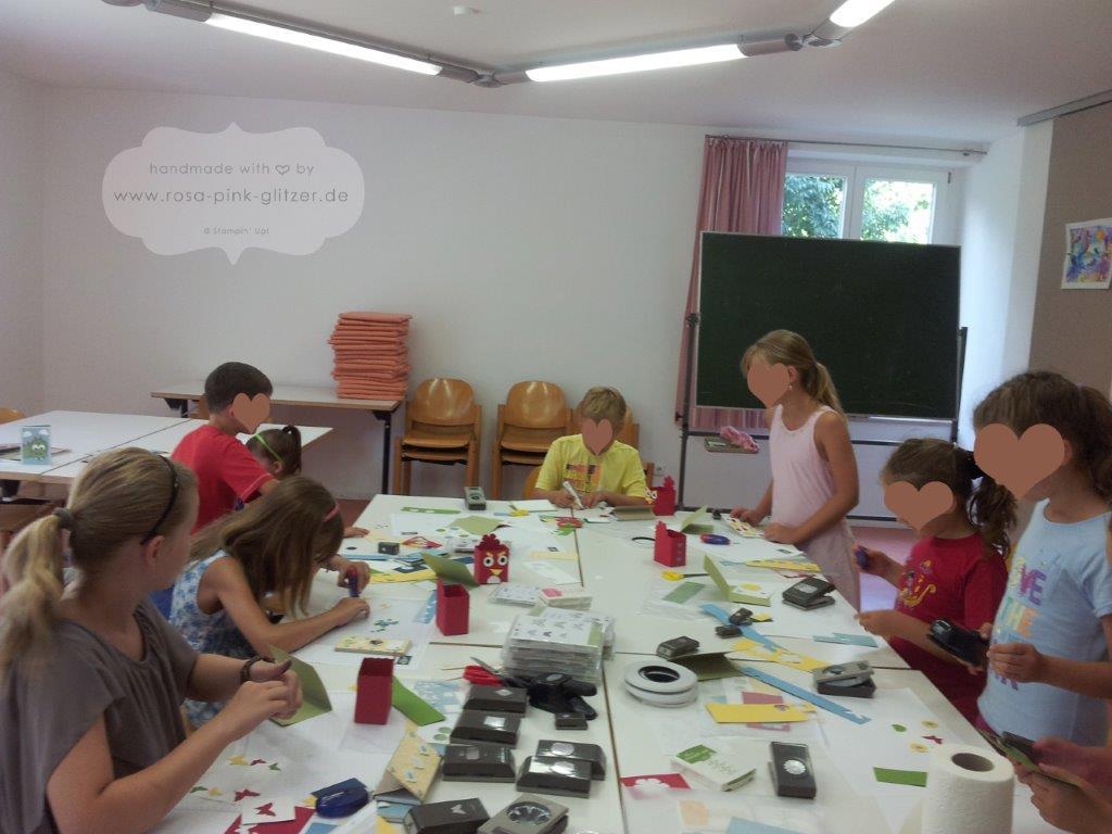 Stampin up Landshut - Workshop mit Kindern