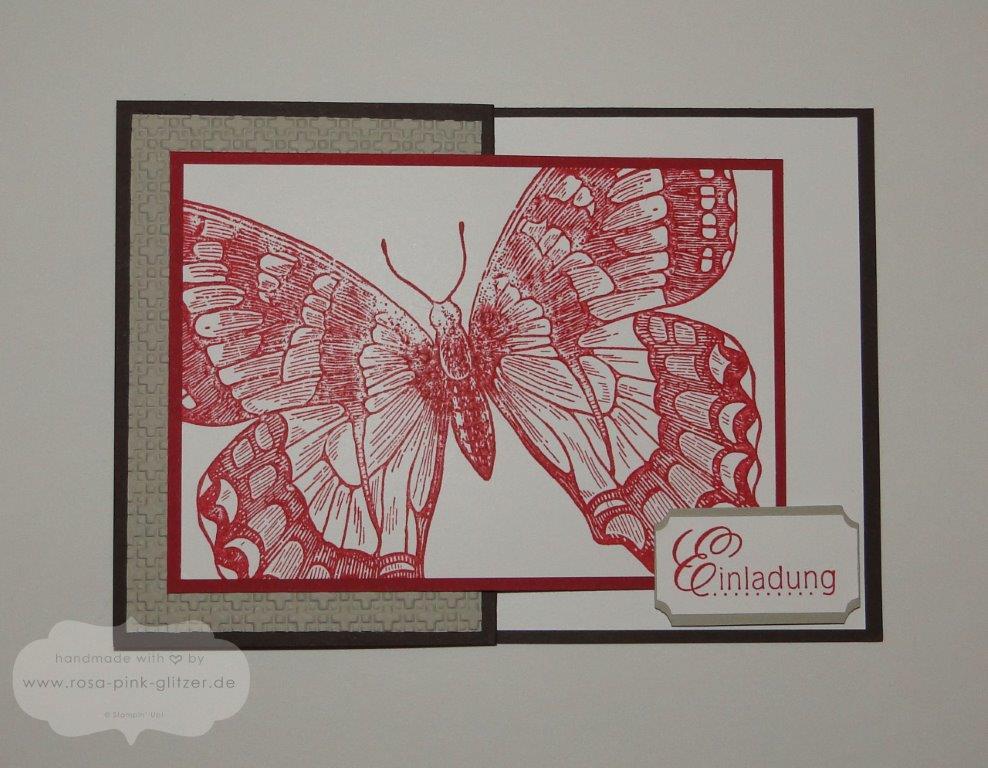 Stampin up Landshut - Einladung Geburtstag Swallowtail Z-Karte 1
