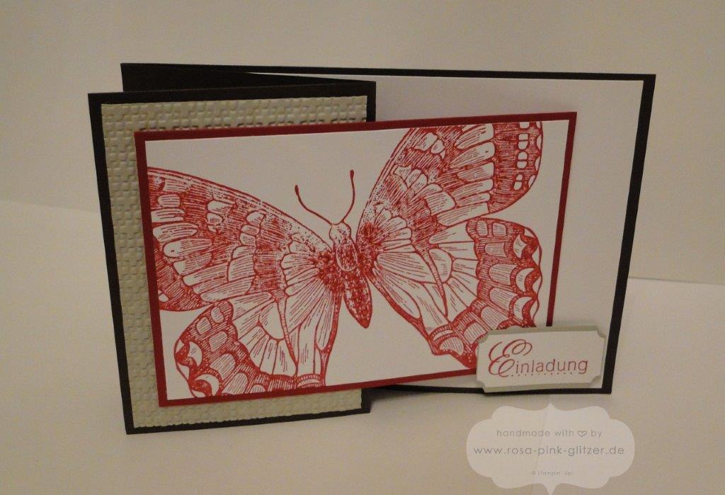 Stampin up Landshut - Einladung Geburtstag Swallowtail Z-Karte 2