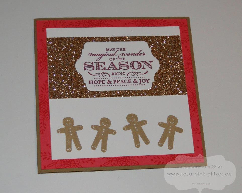 Stampin up Landshut - Weihnachtskarte imc120 hung up the holidays magical season