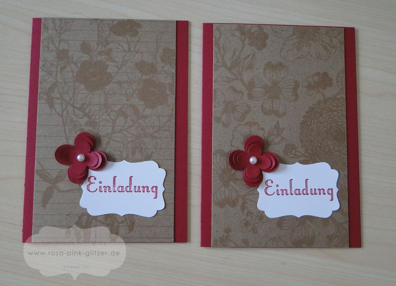 Stampin up Landshut - Einladung Geburtstag Geburtstagswunsch Meisterwerke 1