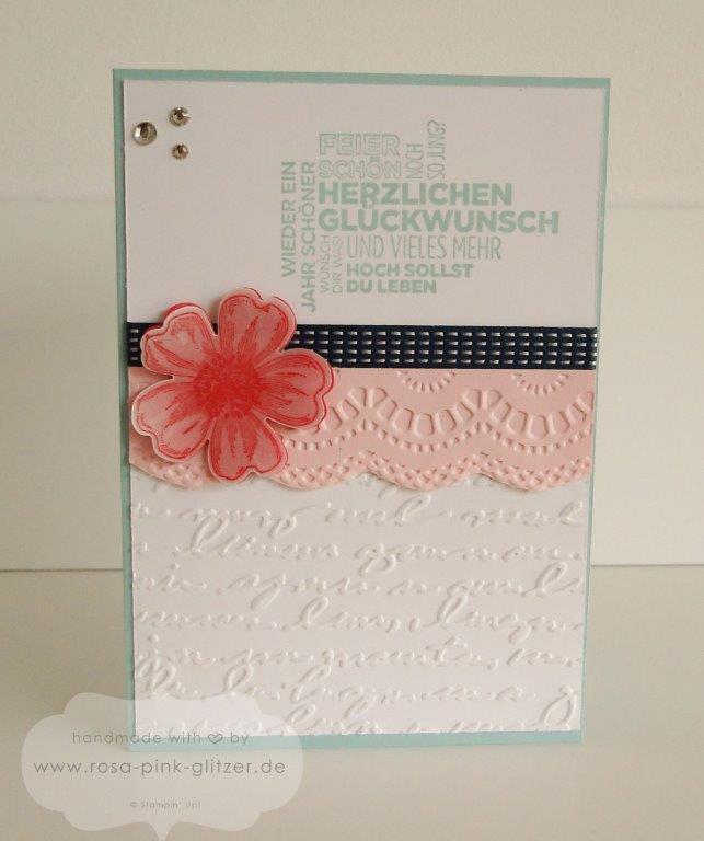 Stampin up Landshut - Geburtstagskarte Blume Flowermarket 2