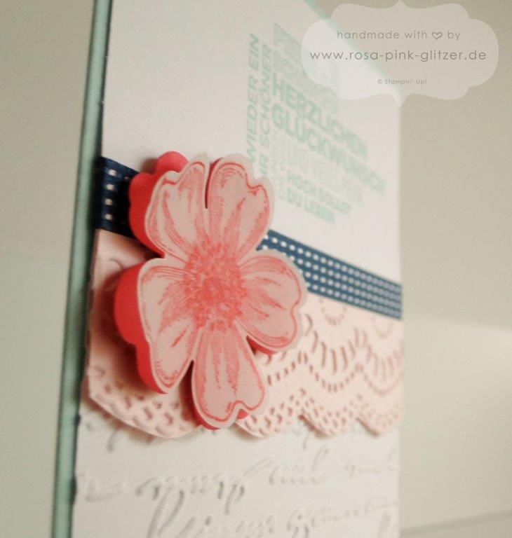 Stampin up Landshut - Geburtstagskarte Blume Flowermarket 3