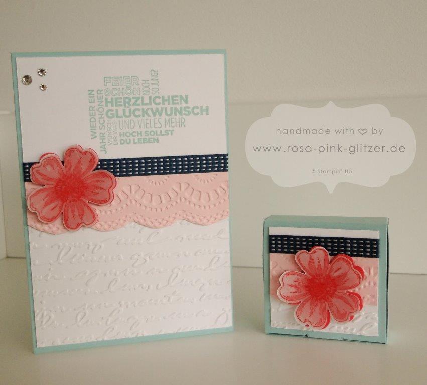 Stampin up Landshut - Geburtstagskarte Blume Flowermarket