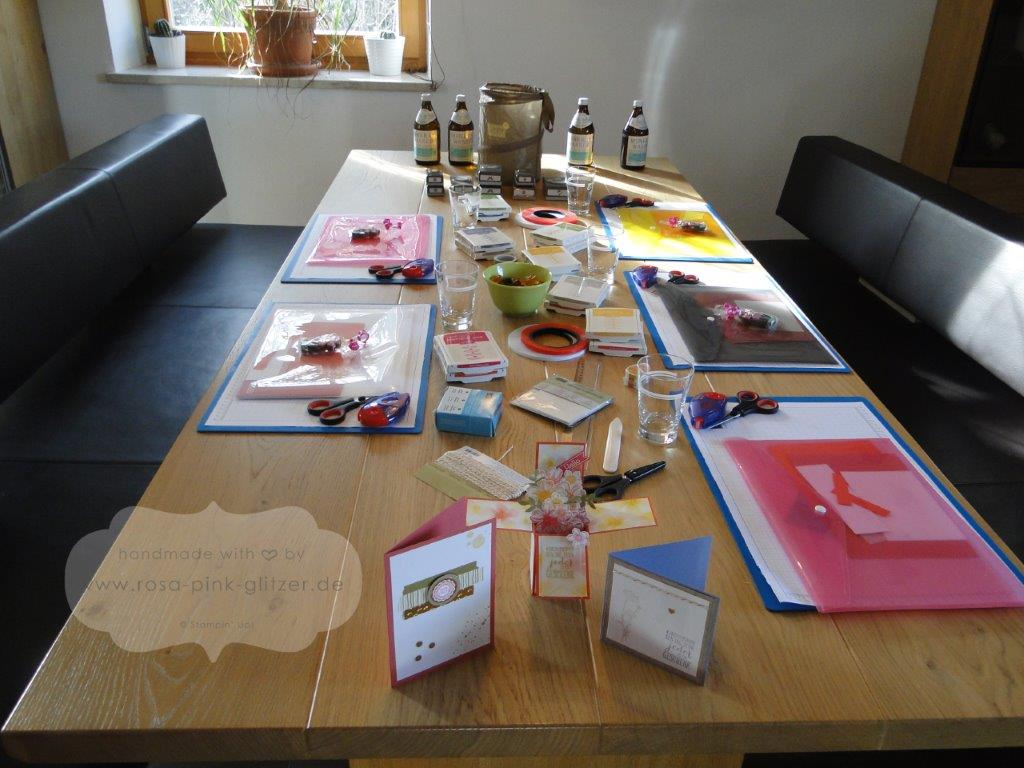 Stampin up Landshut - Workshop Stempelparty 1