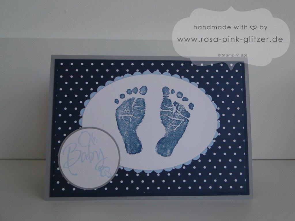Stampin up Landshut - Babykarte Fürs Baby zur Geburt imc 4