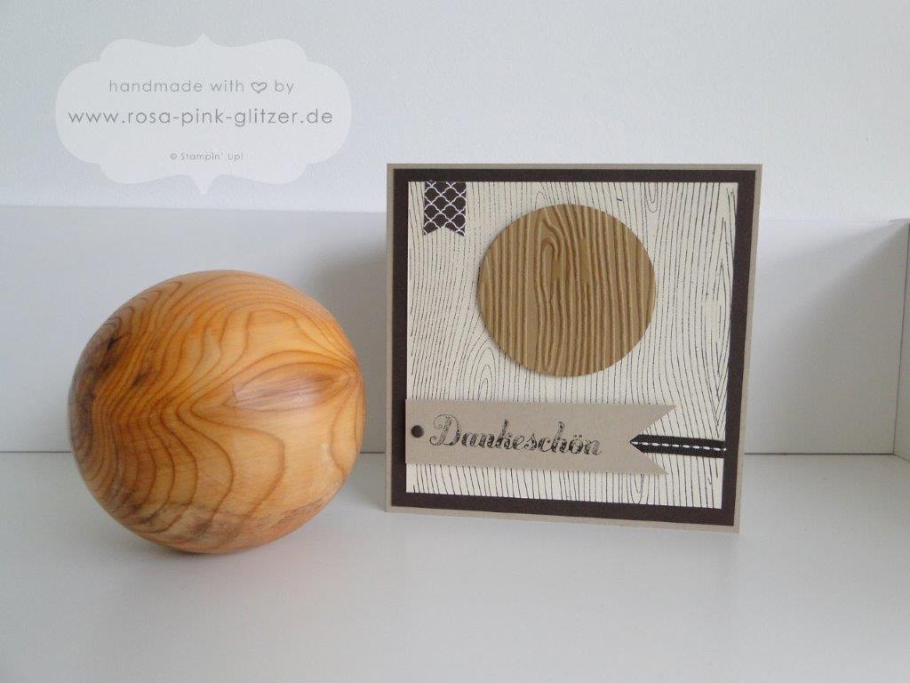 Stampin up Landshut - Dankeskarte in Holzoptik 2