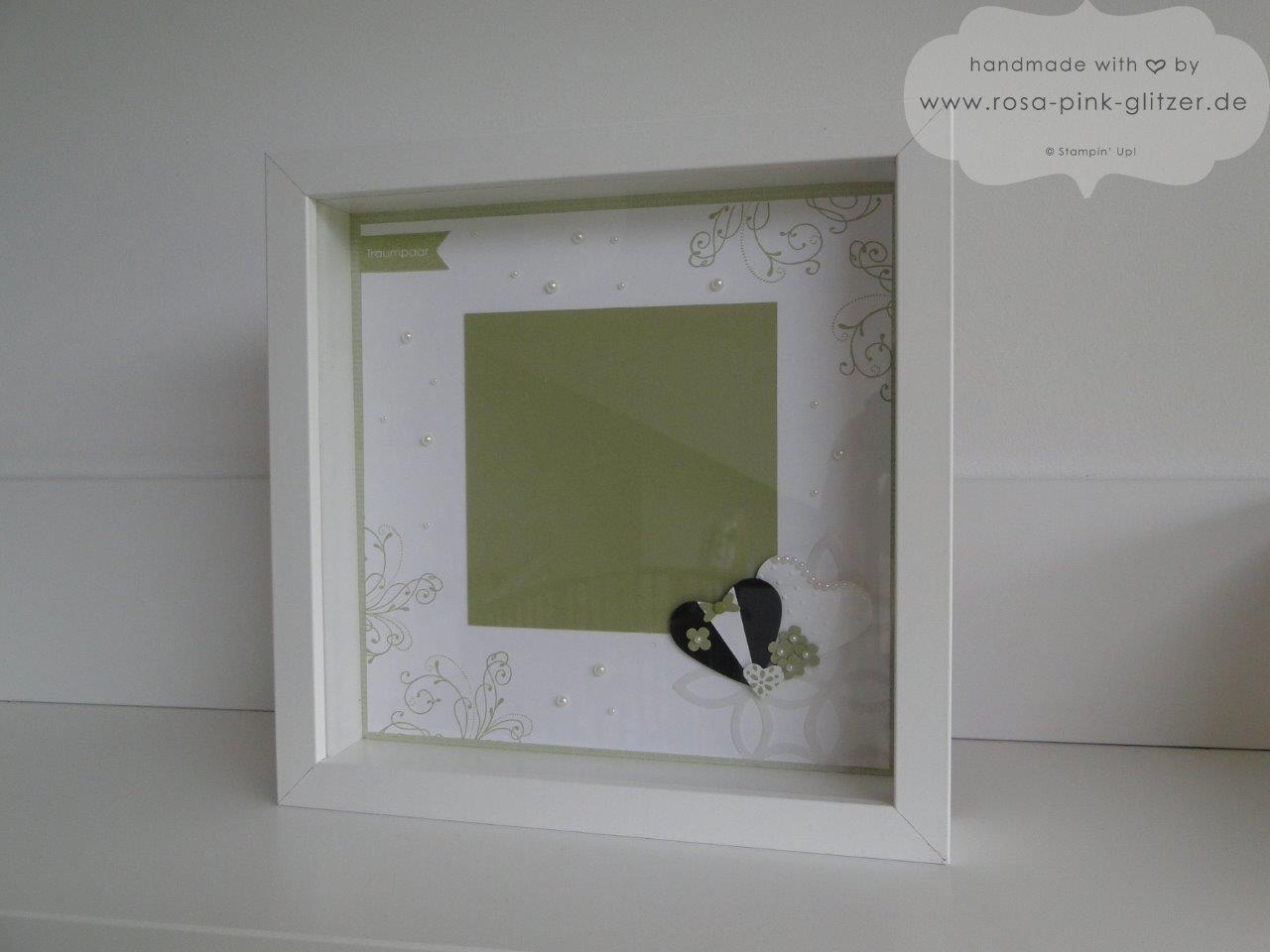 Stampin up Landshut - Rahmen zur Hochzeit grün weiß