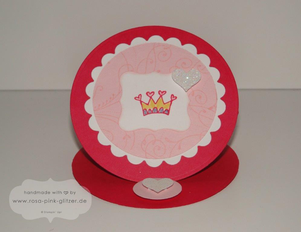 Stampin up Landshut - Geburtstagskarte Kindergeburtstag Prinzessin Itty Bitty Bits 2