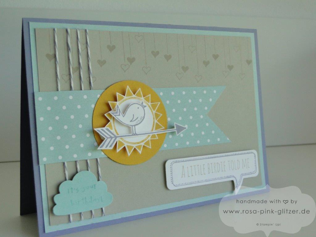 Stampin up Landshut - Hello Love Geburtstagskarte 2
