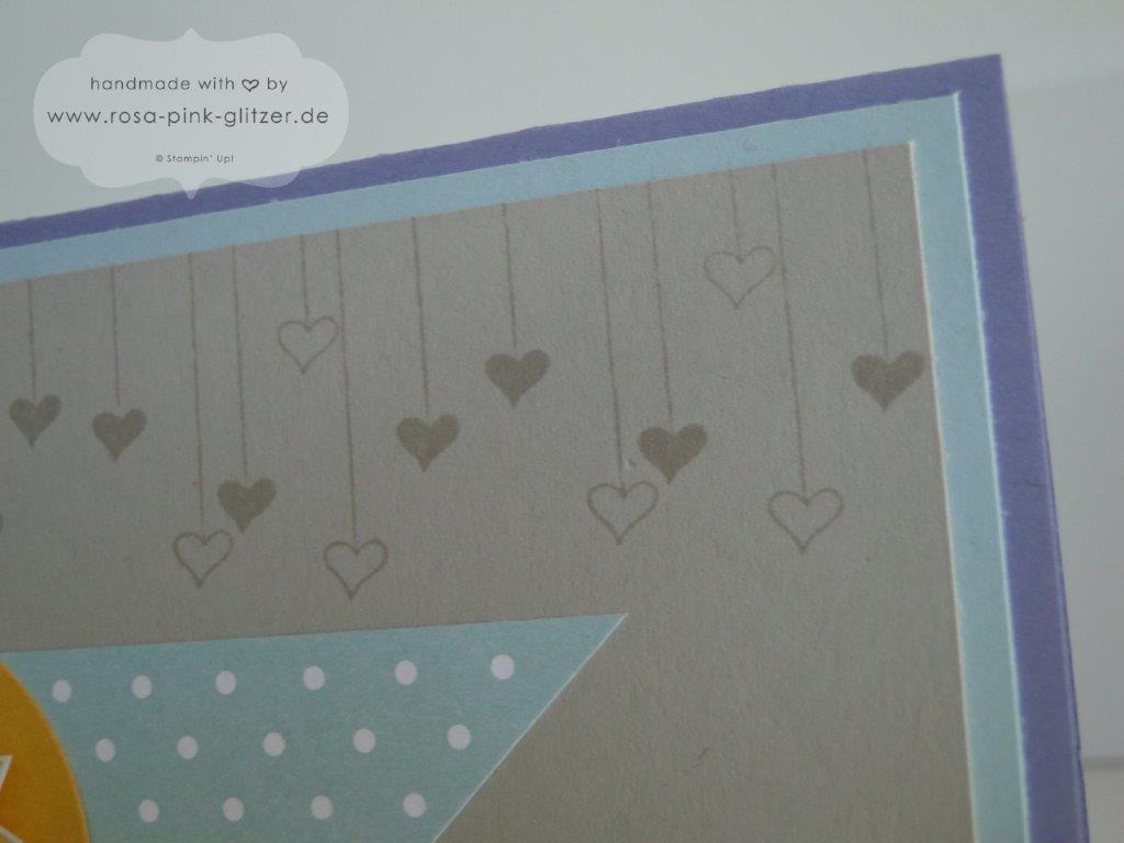 Stampin up Landshut - Hello Love Geburtstagskarte 3