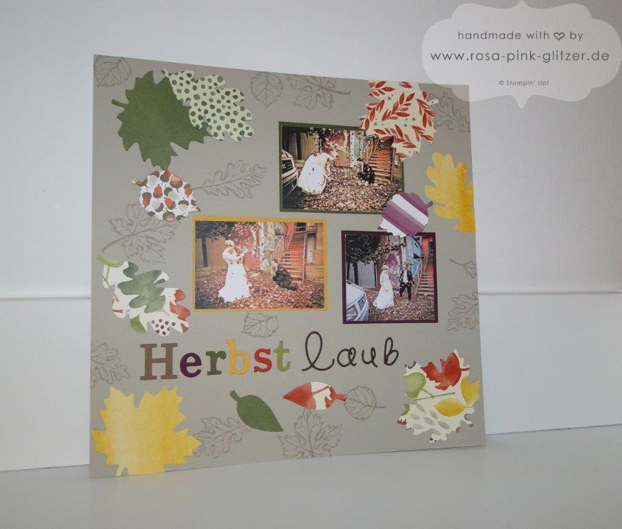 Stampin up Landshut - Layout Herbst Gently Falling 1