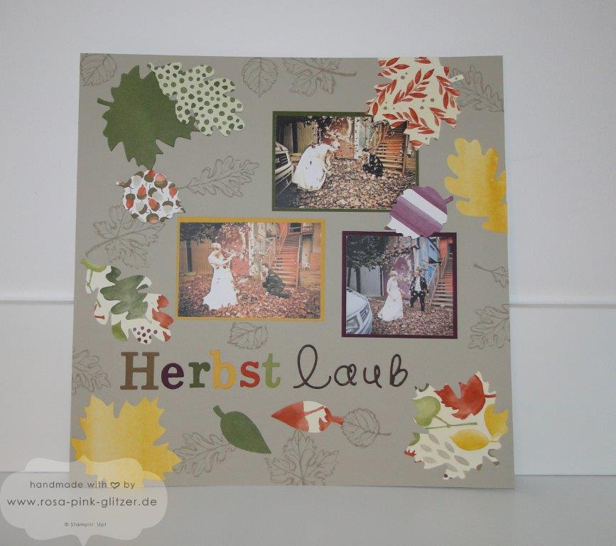 Stampin up Landshut - Layout Herbst Gently Falling 2