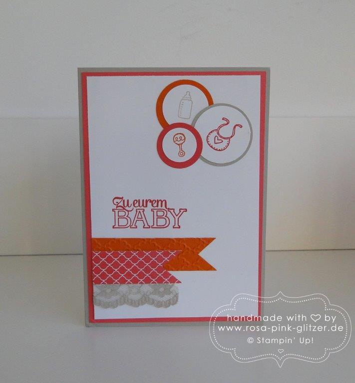 Stampin up Landshut - Babykarte Kleine ganz groß 4