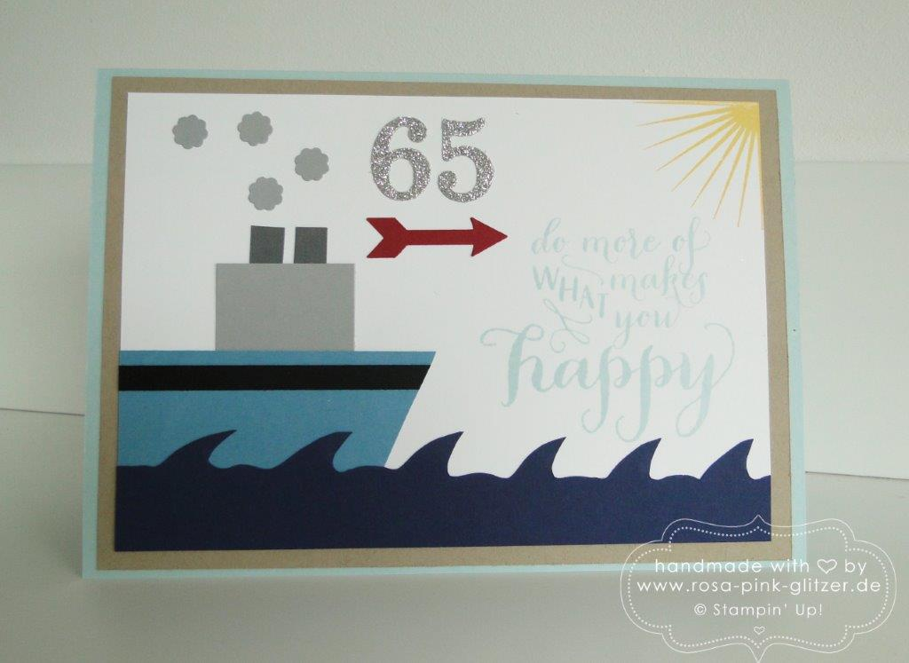 Stampin up Landshut - Karte Rente 65 Donauhafen 1