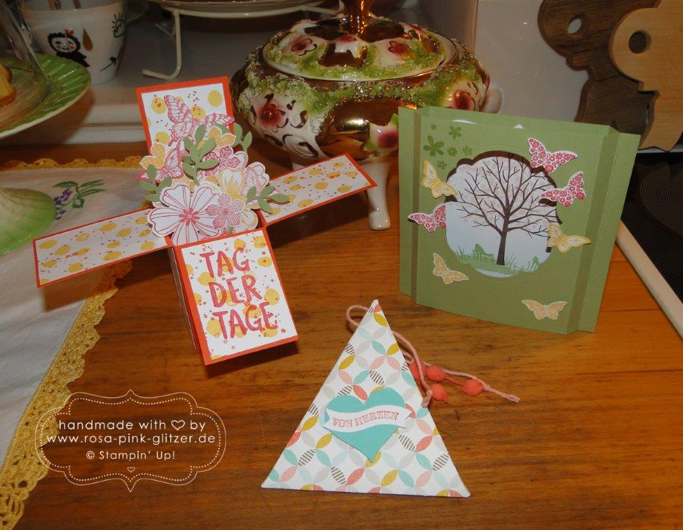 Stampin up Landshut - Workshop Tina Card-in-a-box Windowcard Dreiecksbox 7