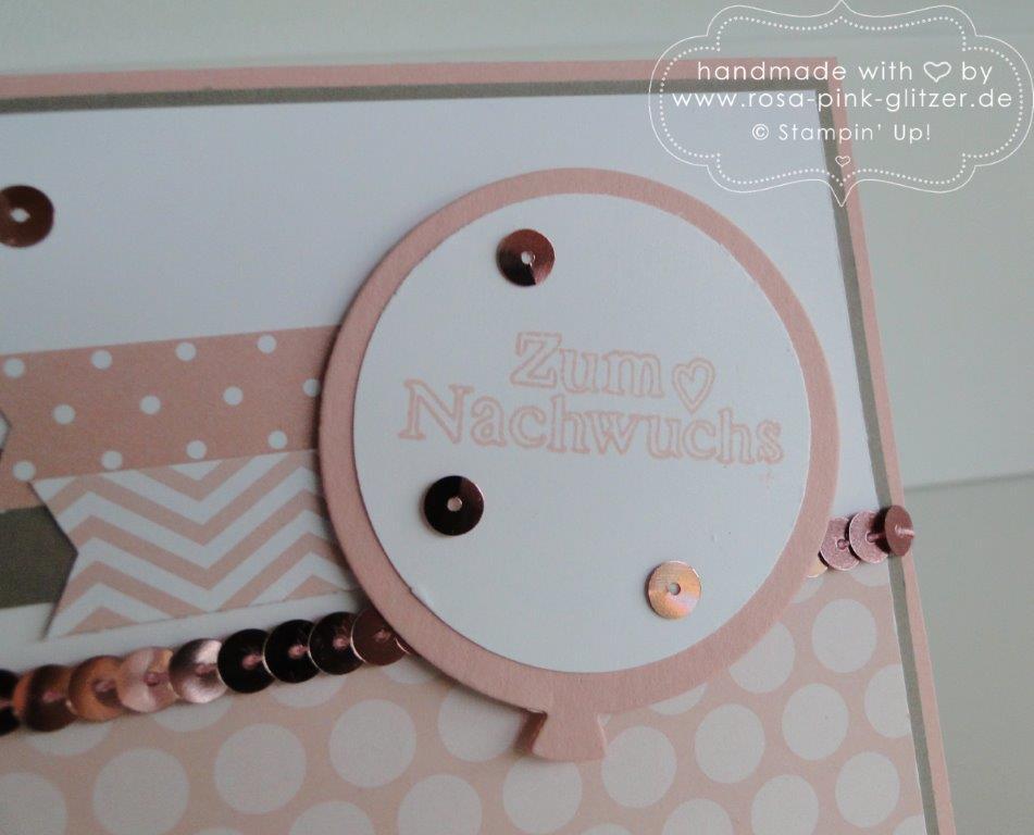 Stampin up Landshut - Babykarte Kirschblüte Zum Nachwuchs 3