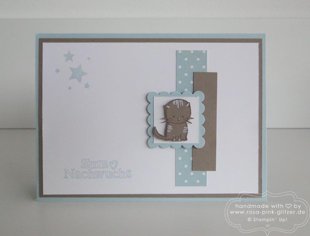 Stampin up Landshut - Babykarte zum Nachwuchs 2
