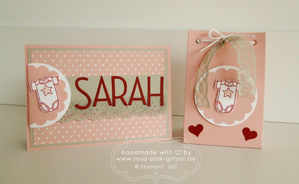 Stampin up Landshut - Babykarte Sarah Geburtstagschallenge 1