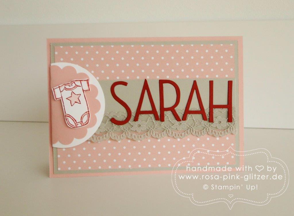 Stampin up Landshut - Babykarte Sarah Geburtstagschallenge 2
