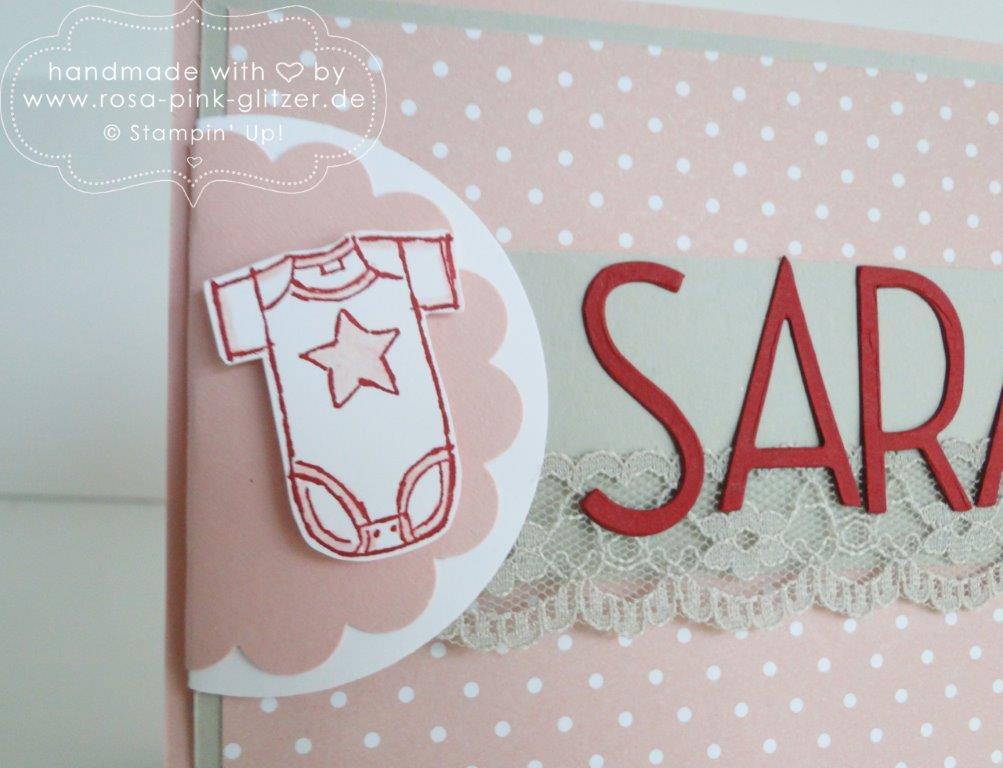 Stampin up Landshut - Babykarte Sarah Geburtstagschallenge 3