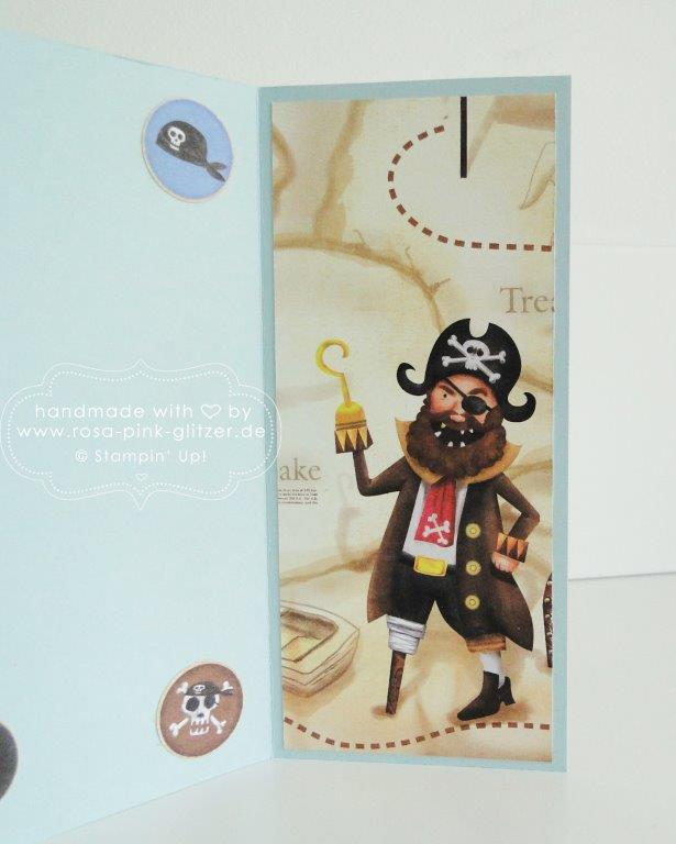 Stampin up Landshut - Piratenkarte Piratenparty Kindergeburtstag 4