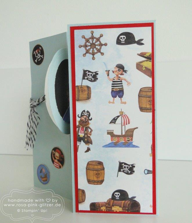 Stampin up Landshut - Piratenkarte Piratenparty Kindergeburtstag 6