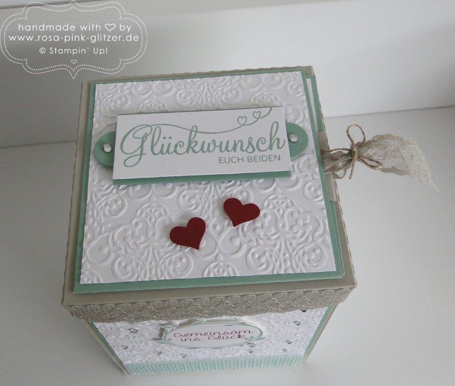 Stampin up Landshut - Explosionbox Hochzeit 5