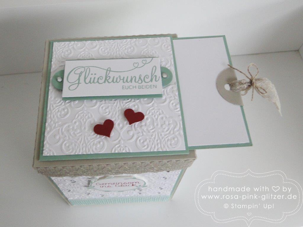 Stampin up Landshut - Explosionbox Hochzeit 6