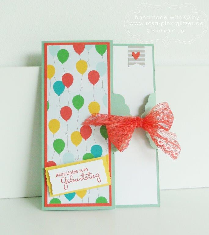 Stampin up Landshut - Karte Luftballons Party 1