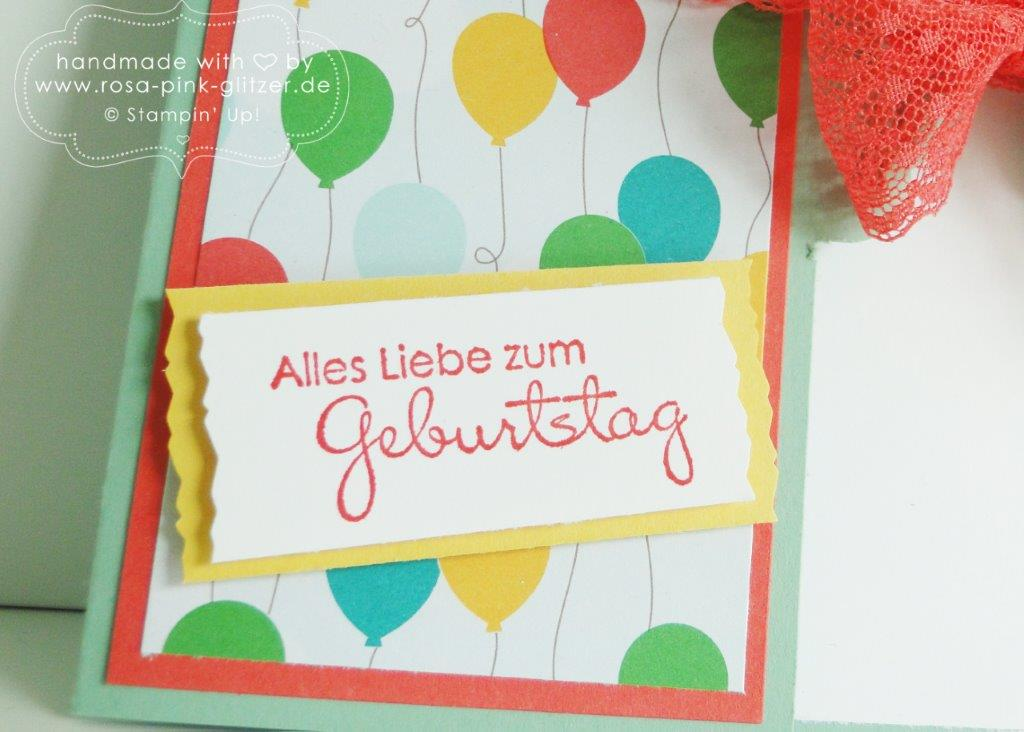 Stampin up Landshut - Karte Luftballons Party 3