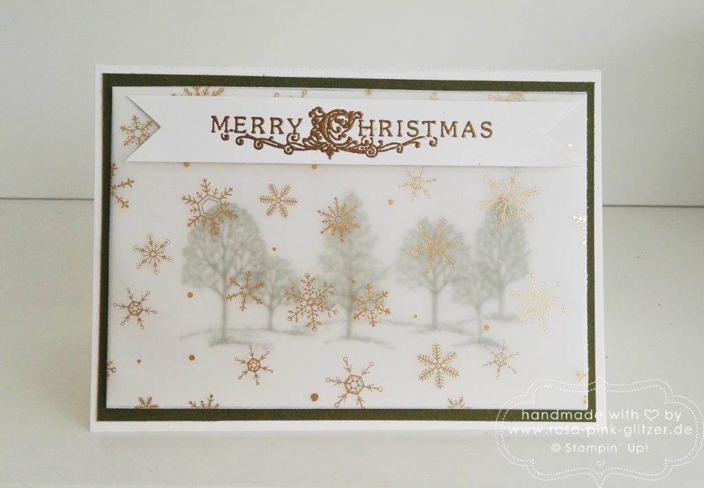 Stampin up Landshut - Lovely as a tree Winterwald 1