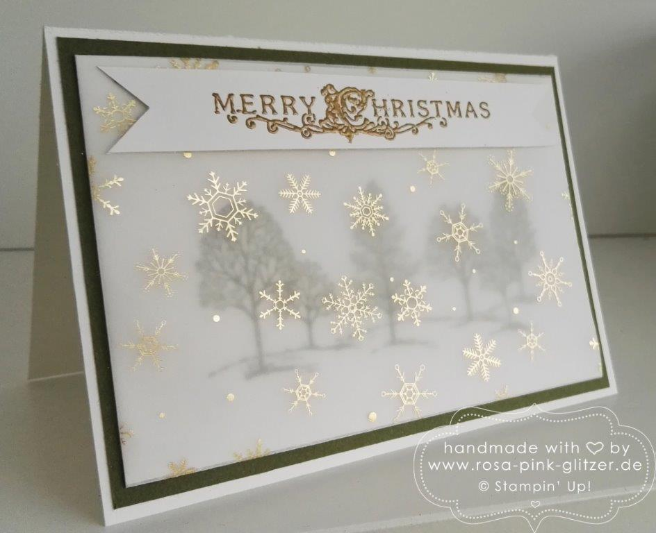 Stampin up Landshut - Lovely as a tree Winterwald 3