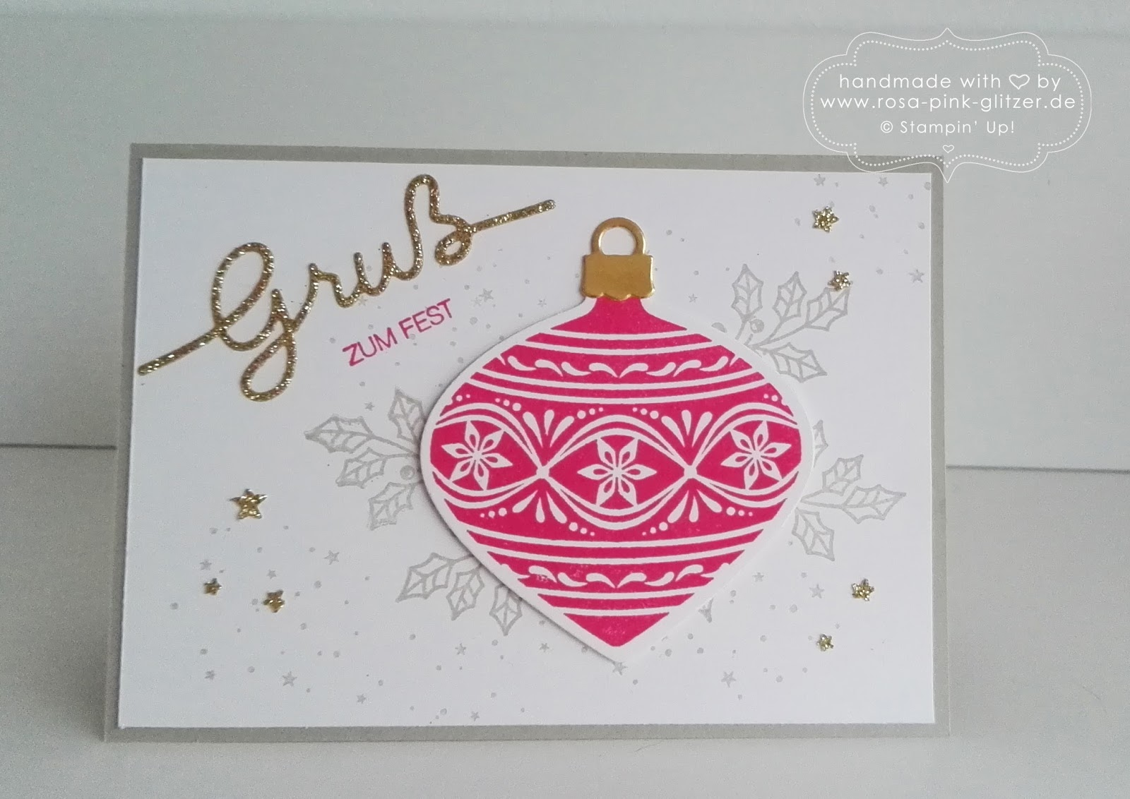 last minute weihnachtskarten workshop mit stampin up in landshut rosa pink alles was glitzert. Black Bedroom Furniture Sets. Home Design Ideas