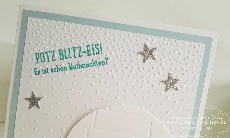 Stampin up Landshut - es schneit - klappkarte buch 3