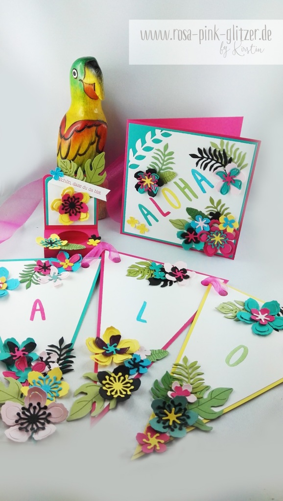 Stampin up Landshut - Hawaii Party Aloha Botanical Blooms 1