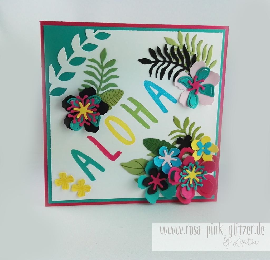 Stampin up Landshut - Hawaii Party Aloha Botanical Blooms 3