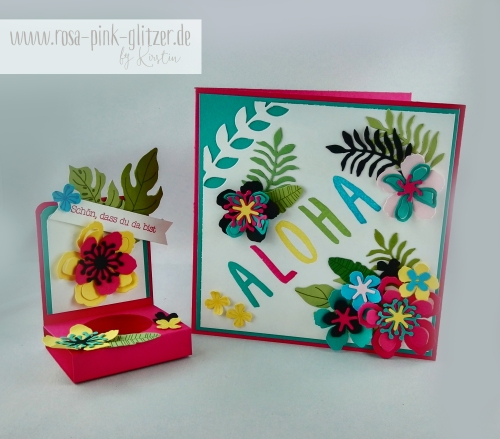 Stampin up Landshut - Hawaii Party Aloha Botanical Blooms 4