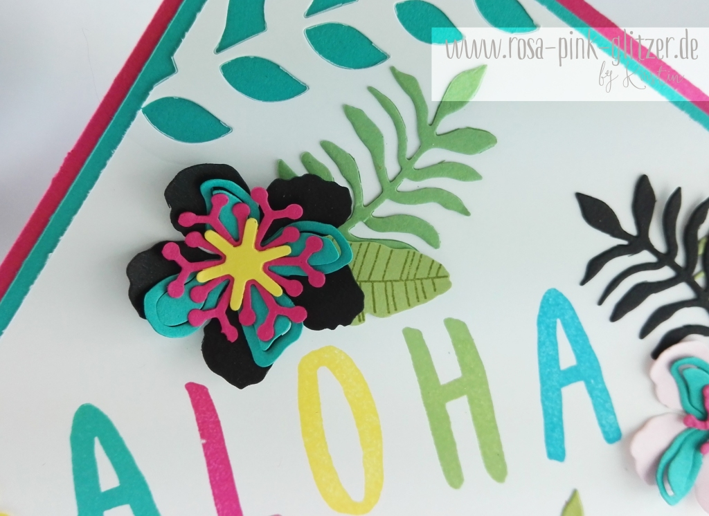 Stampin up Landshut - Hawaii Party Aloha Botanical Blooms 5