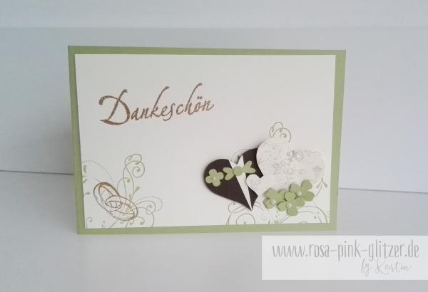 Stampin up Landshut - Dankeskarte Hochzeit 1