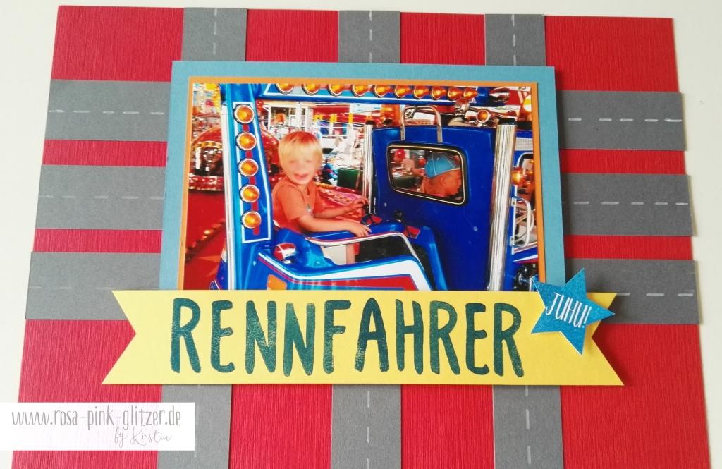 Stampin up Landshut - Layout Rennfahrer 5