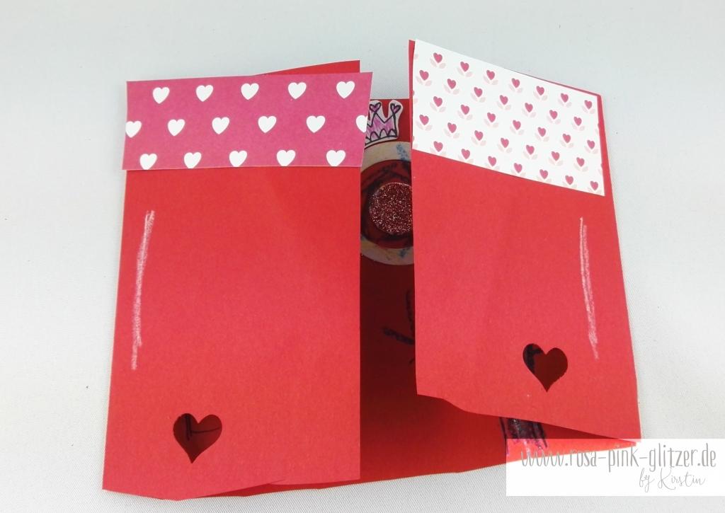 Stampin up Landshut - rosa-pink-glitzer Prinzessinnenkarte für Lea 5