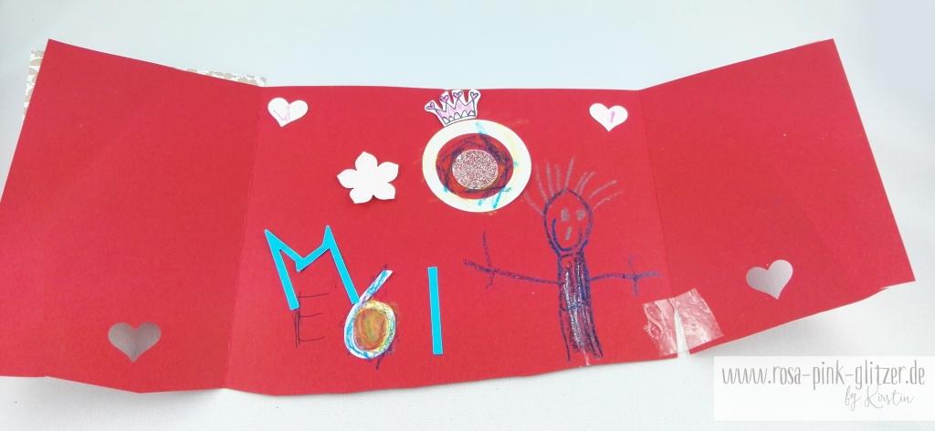 Stampin up Landshut - rosa-pink-glitzer Prinzessinnenkarte für Lea 6