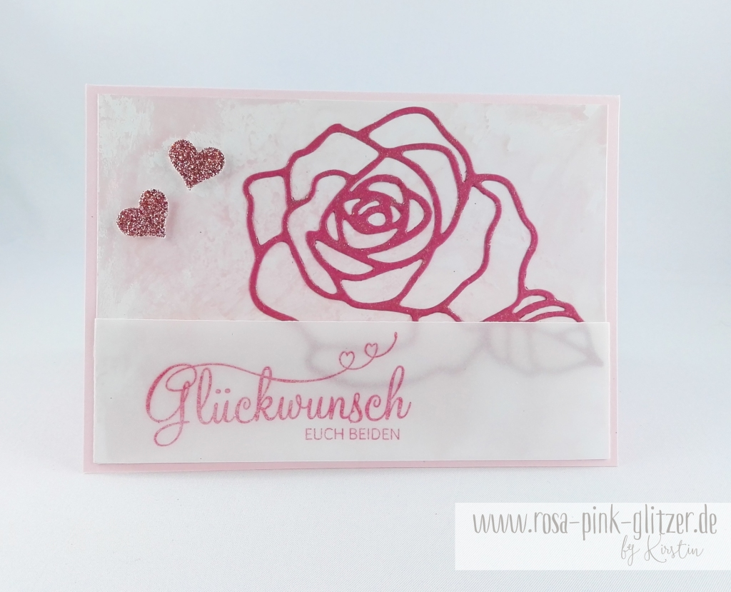 Stampin up Landshut - Hochzeitskarte Rose Perfekter Tag 1